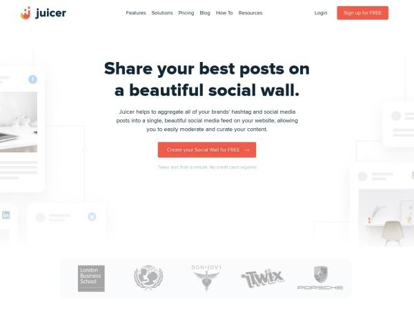 Screenshot von www.juicer.io