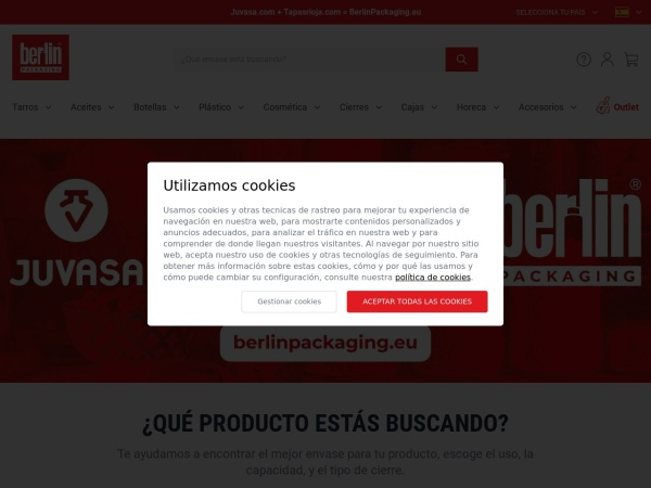 Captura de pantalla de www.juvasa.com