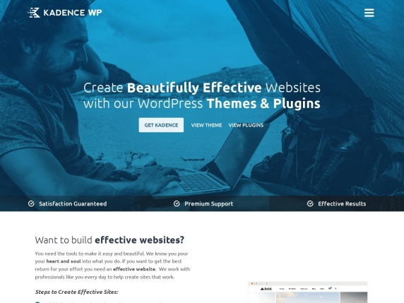 Kadence Themes home page