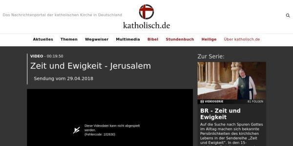 Screenshot of www.katholisch.de