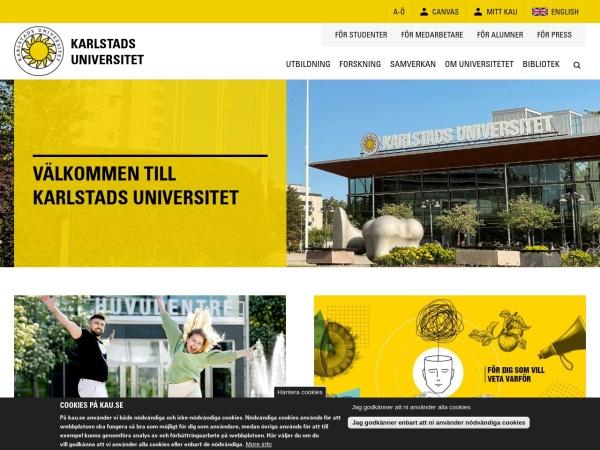Screenshot of www.kau.se