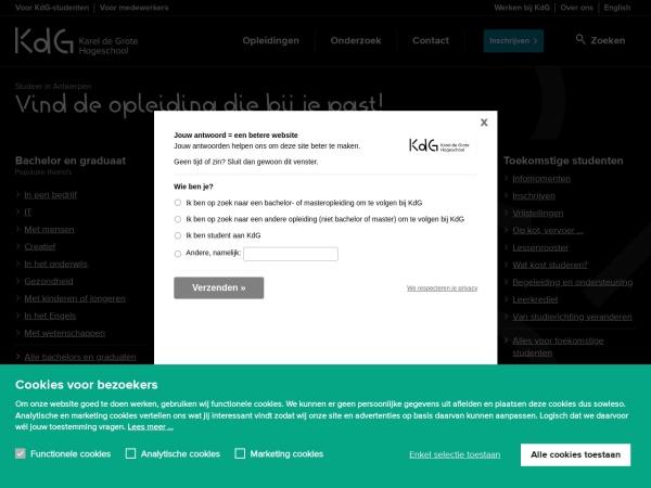 Screenshot of www.kdg.be