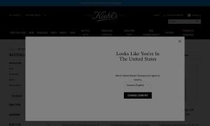 Kiehlsウェブサイトサムネイル