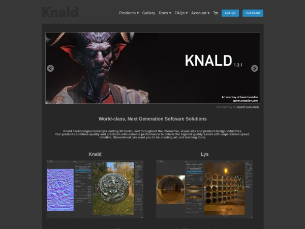 Screenshot of www.knaldtech.com