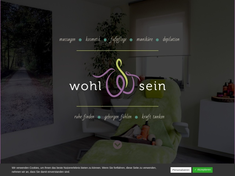 Screenshot of www.kosmetik-wohlsein.de
