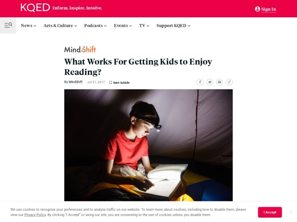What works for getting kids reading