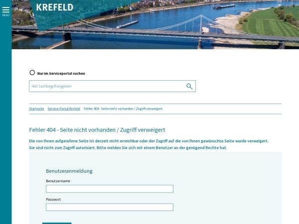 Screenshot von www.krefeld.de