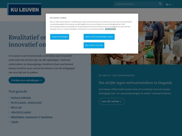 Screenshot of www.kuleuven.be