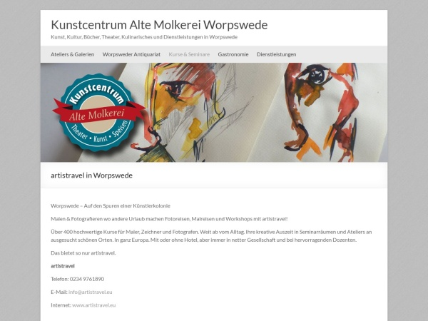 Screenshot von www.kunstcentrum-alte-molkerei-worpswede.de