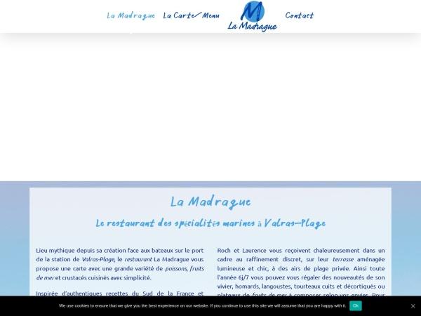 Screenshot of www.la-madrague.com