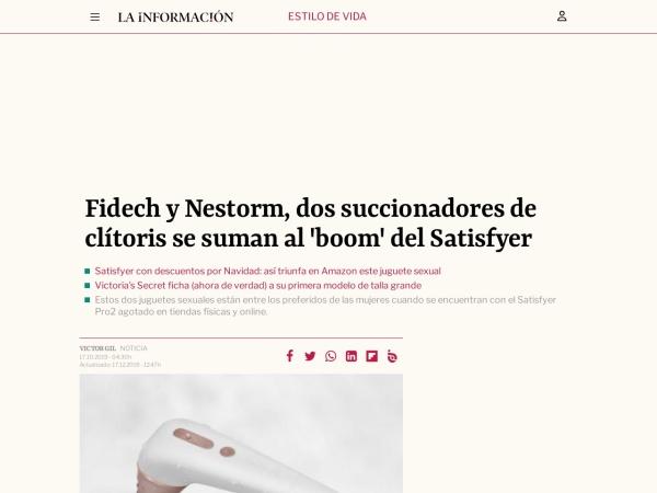 Captura de pantalla de www.lainformacion.com