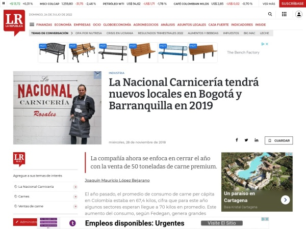 Captura de pantalla de www.larepublica.co