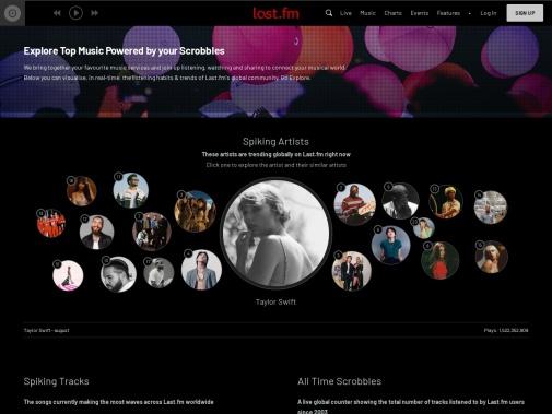 Screenshot of www.last.fm