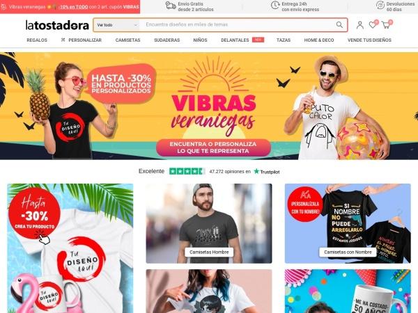 Captura de pantalla de www.latostadora.com