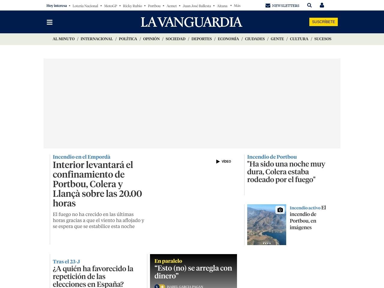 Captura de pantalla de www.lavanguardia.com