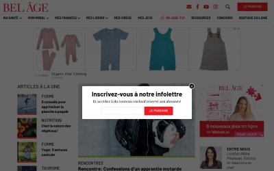 Screenshot of www.lebelage.ca