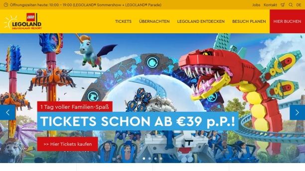 Screenshot of www.legoland.de