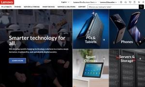 Lenovo Canadaウェブサイトサムネイル