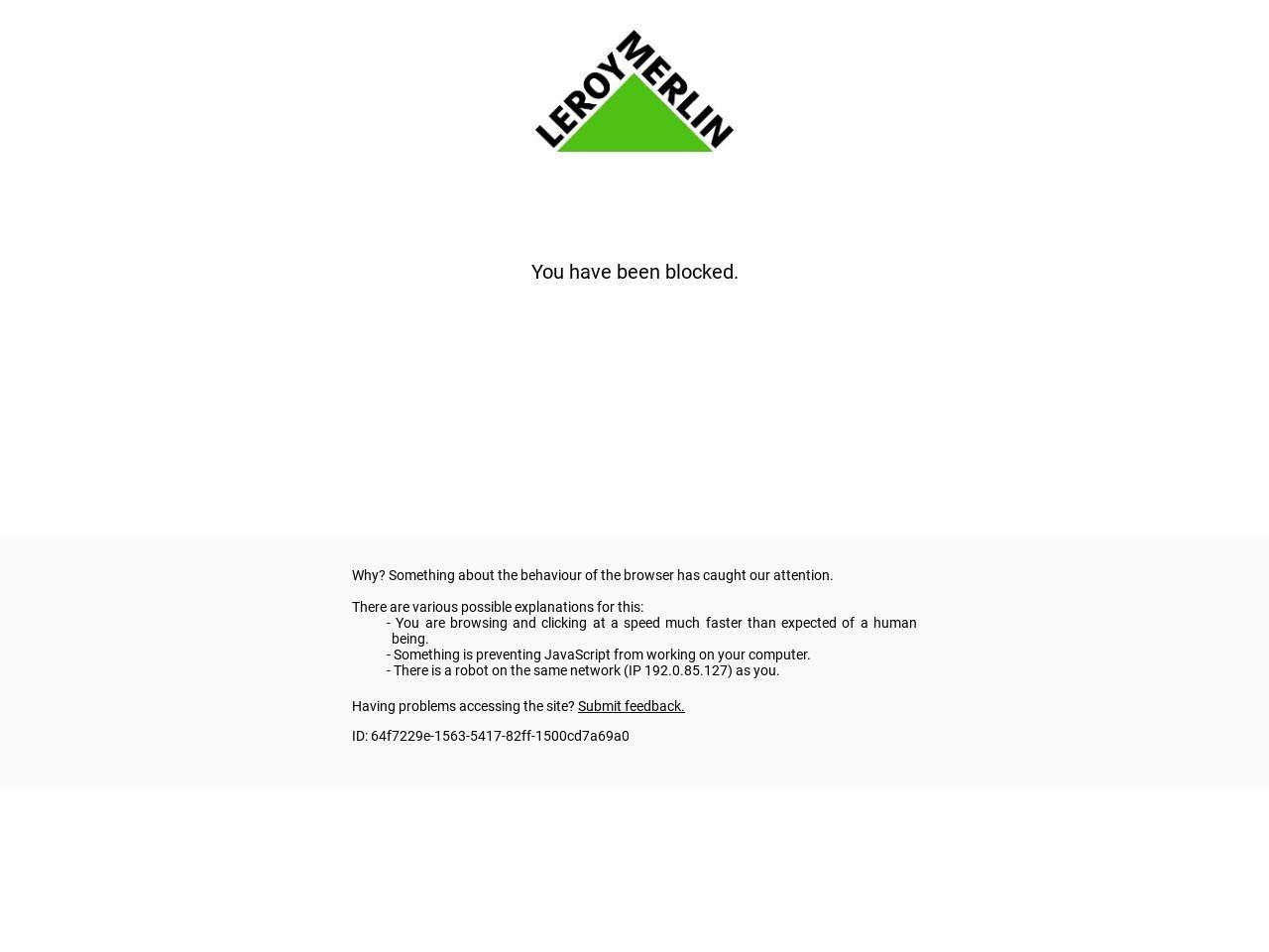 Captura de pantalla de www.leroymerlin.es