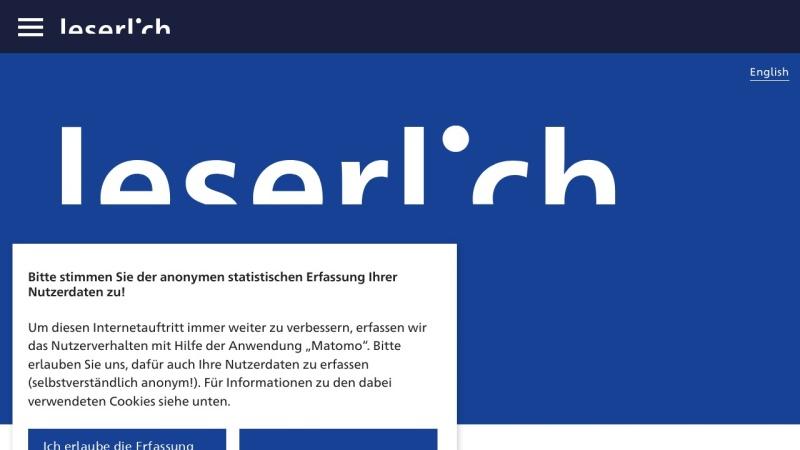 Screenshot von www.leserlich.info
