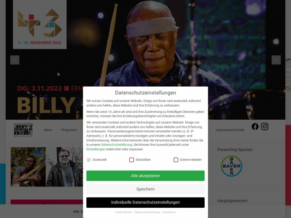 Screenshot of www.leverkusener-jazztage.de