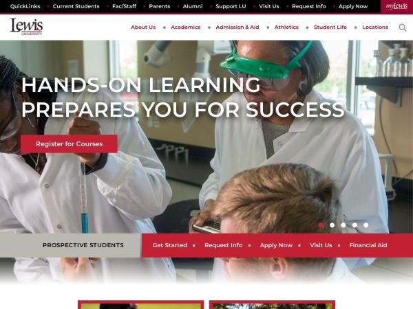 Screenshot of www.lewisu.edu