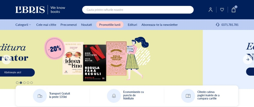 Screenshot of www.libris.ro