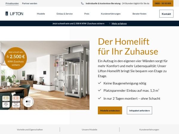 Screenshot von www.lifton.de