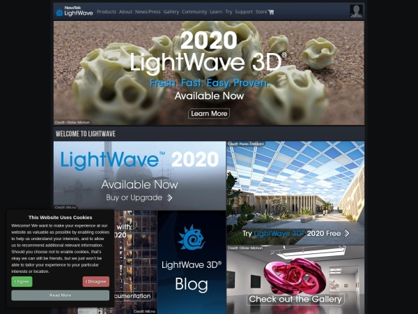 Screenshot of www.lightwave3d.com