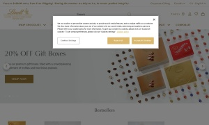 Lindt Canadaウェブサイトサムネイル