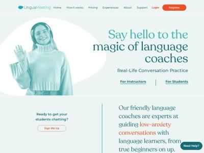 Screenshot of www.linguameeting.com