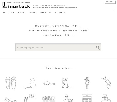Screenshot of www.linustock.com