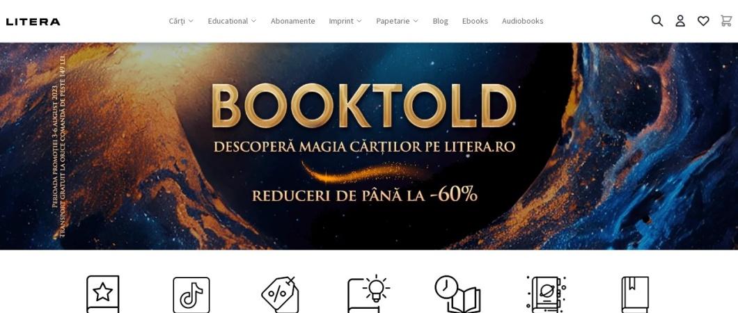 Screenshot of www.litera.ro