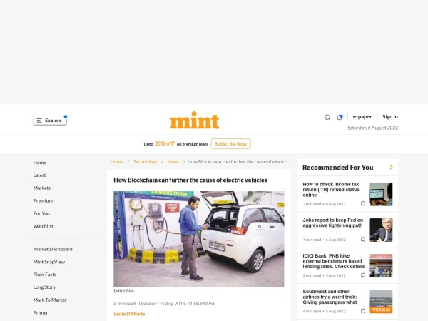 Screenshot of www.livemint.com