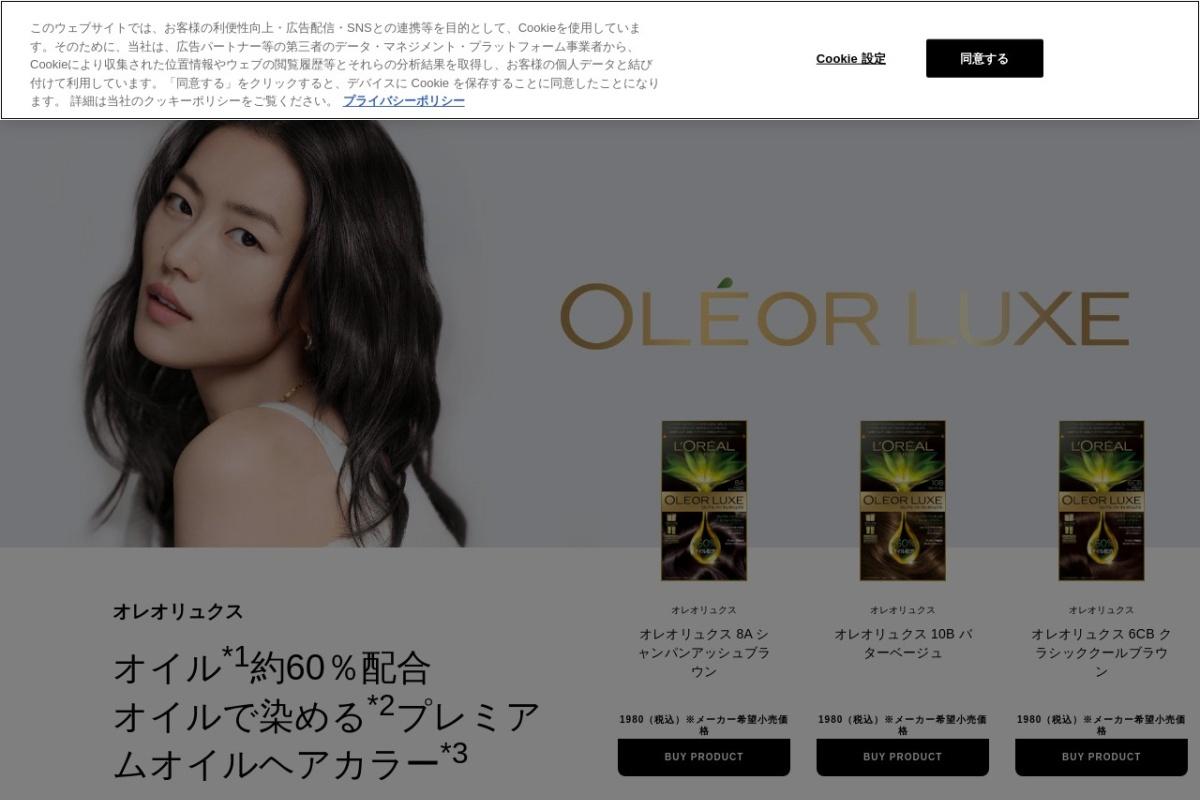 Screenshot of www.lorealparisjapan.jp