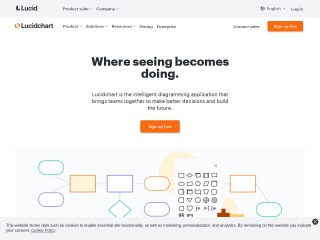 Screenshot of www.lucidchart.com