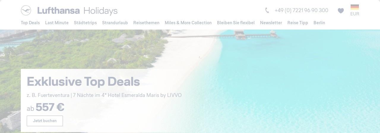 Lufthansa Miles and More bei Lufthansa Holidays