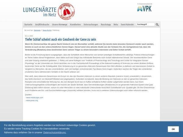 Screenshot von www.lungenaerzte-im-netz.de