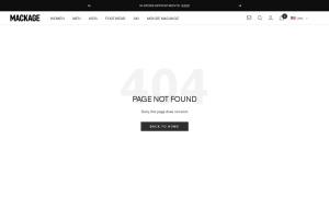 MACKAGE ウェブサイトサムネイル