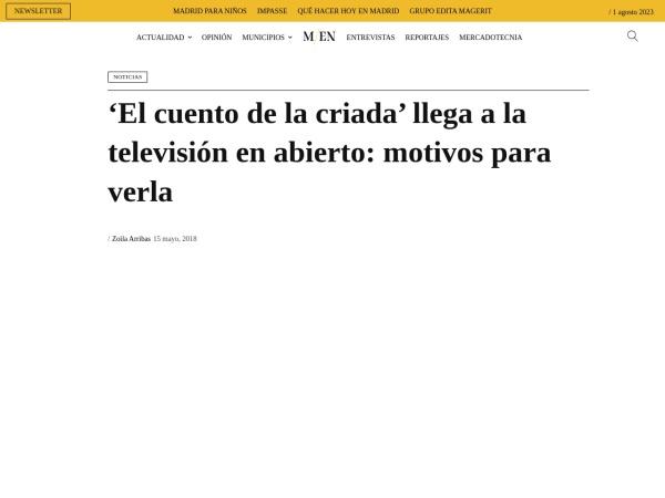 Captura de pantalla de www.madridesnoticia.es