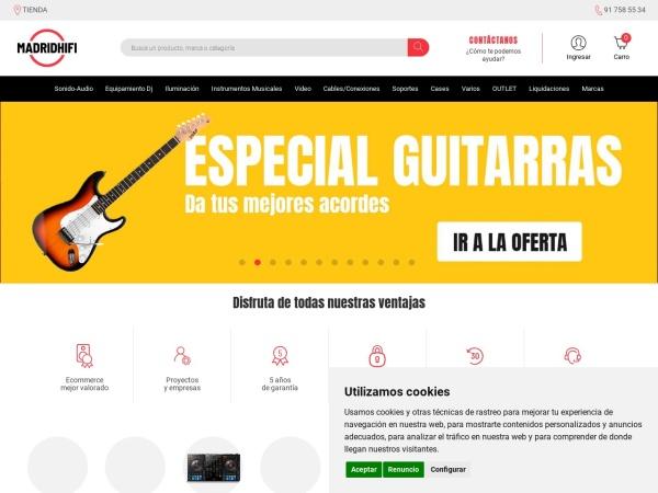 Captura de pantalla de www.madridhifi.com