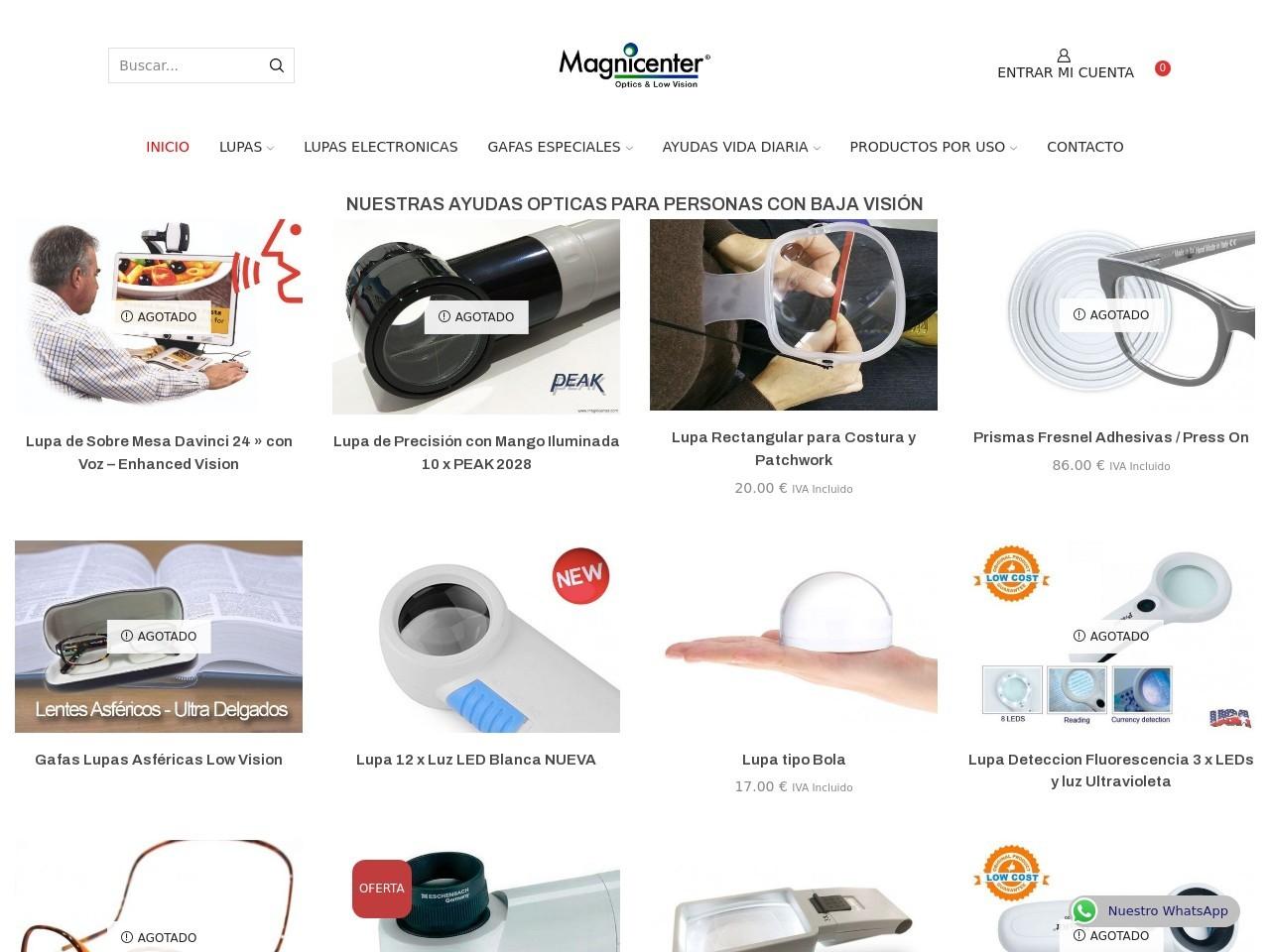Captura de pantalla de www.magnicenter.com