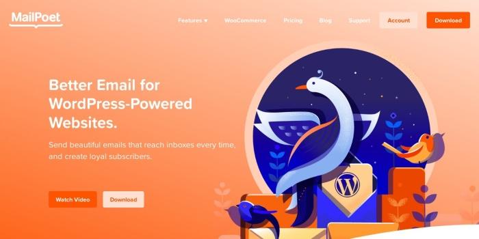 Screenshot of www.mailpoet.com
