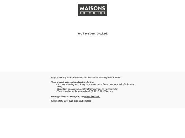 Captura de pantalla de www.maisonsdumonde.com