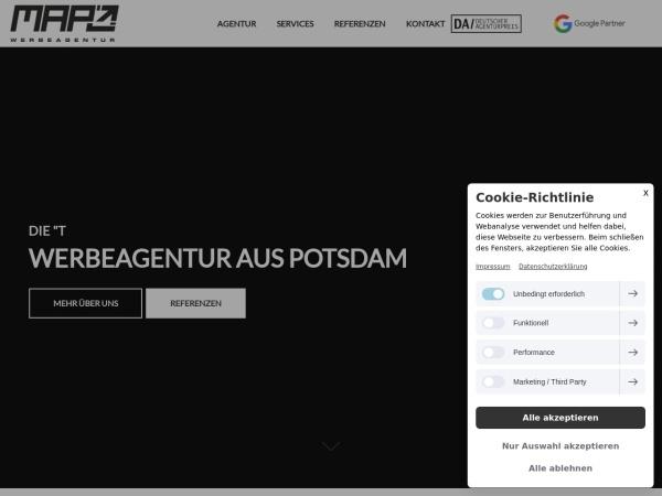 Screenshot von www.mapo-werbeagentur.de