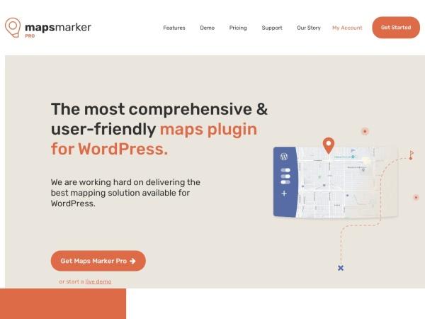 Screenshot von www.mapsmarker.com