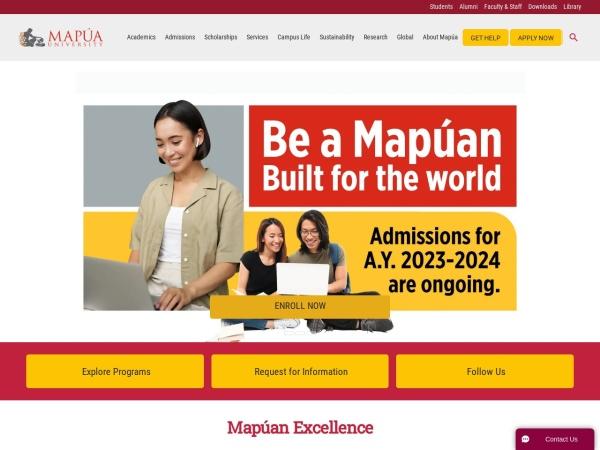 Screenshot of www.mapua.edu.ph