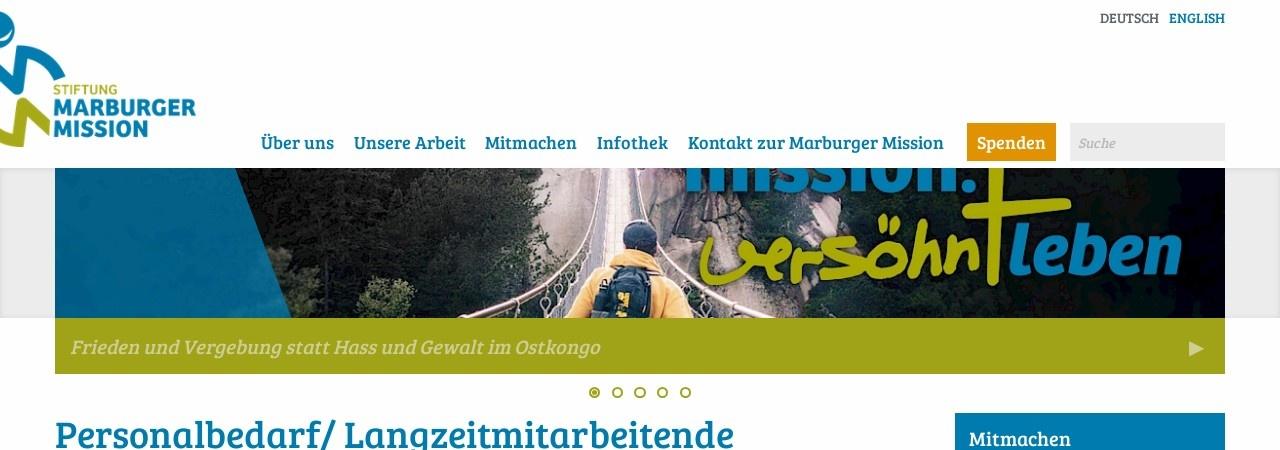 Screenshot von www.marburger-mission.org