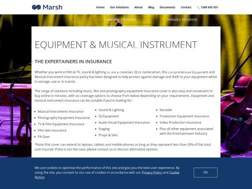 Screenshot of www.marshadvantage.com.au