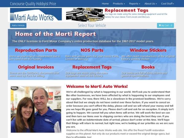 Screenshot of www.martiauto.com
